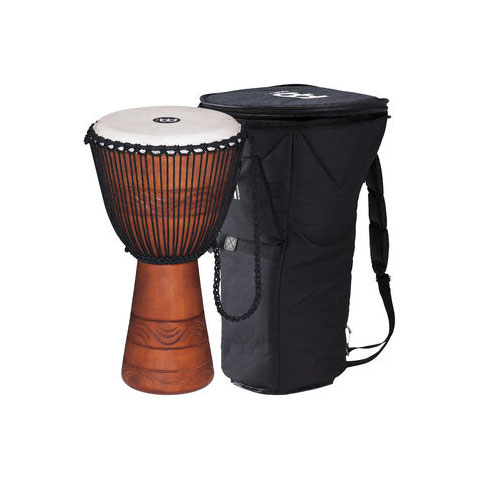 "Meinl 13"" Original African Style Water Rhythm Rope-Tuned Wood Djembe with Bag"