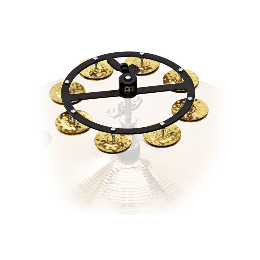 "Meinl 5"" Headliner Single Row Hammered Brass Hi Hat Tambourine"