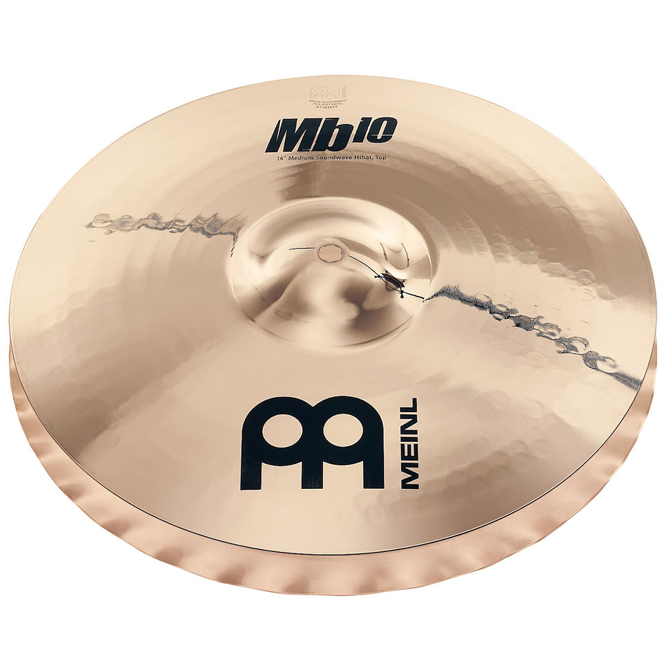"Meinl 15"" Mb10 Medium Soundwave Hi Hat Cymbals"