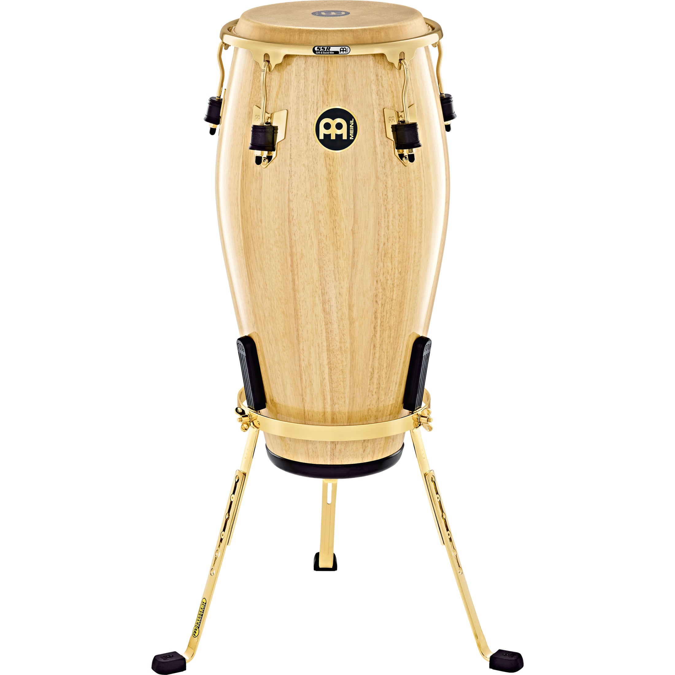 "Meinl 11.75"" Marathon Exclusive Conga in Natural with Gold Hardware"