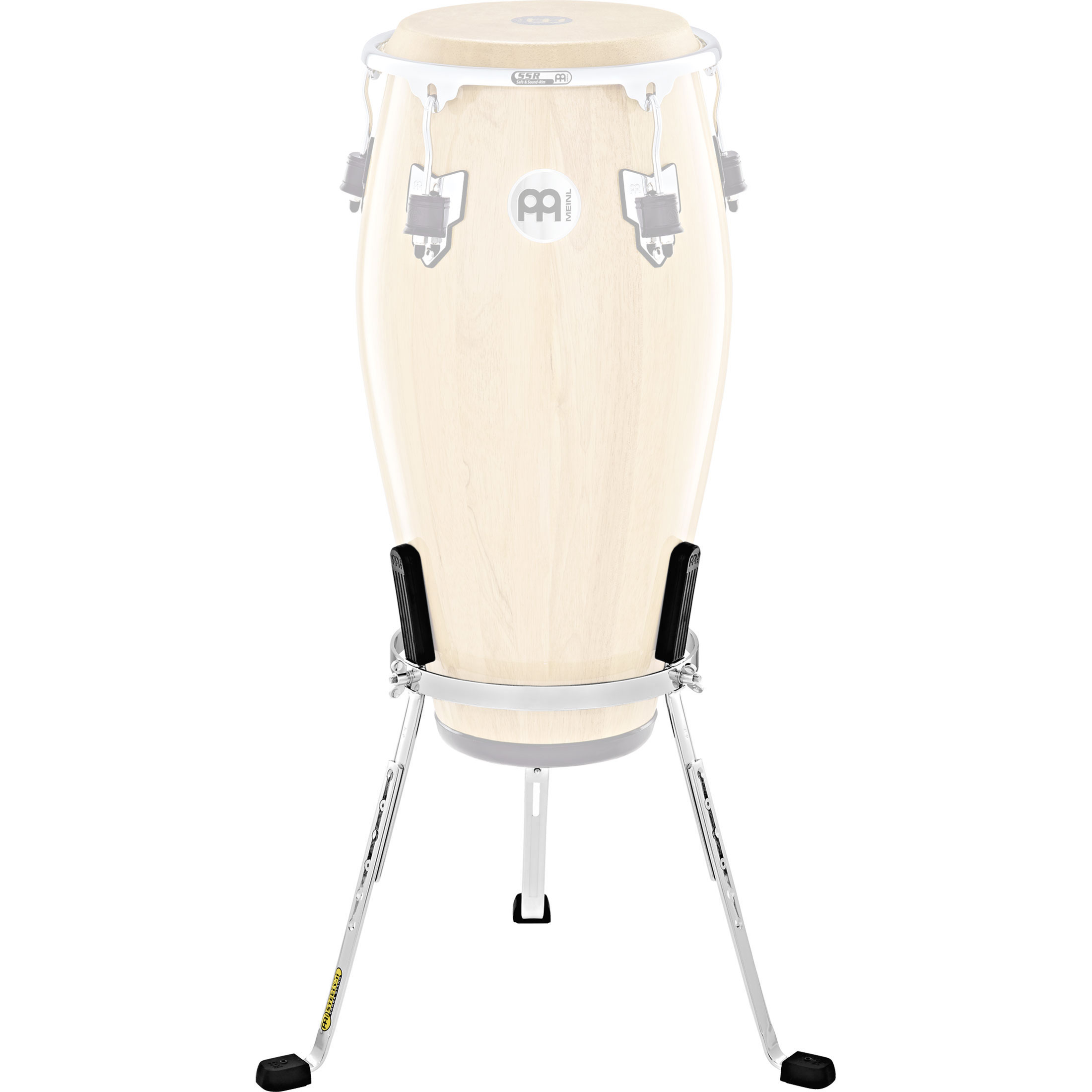 "Meinl 12.5"" Marathon Exclusive Steely II Tumba Conga Stand in Chrome"