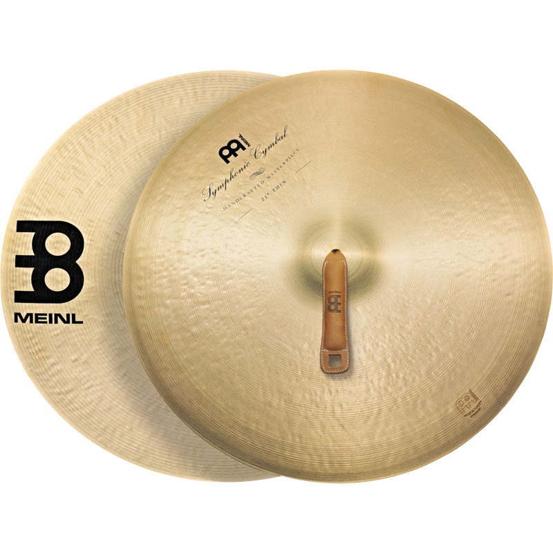 "Meinl 22"" Thin Symphonic Crash Cymbal Pair"