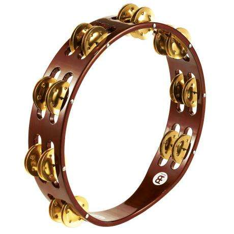 Meinl Wood Single Row Brass Tambourine