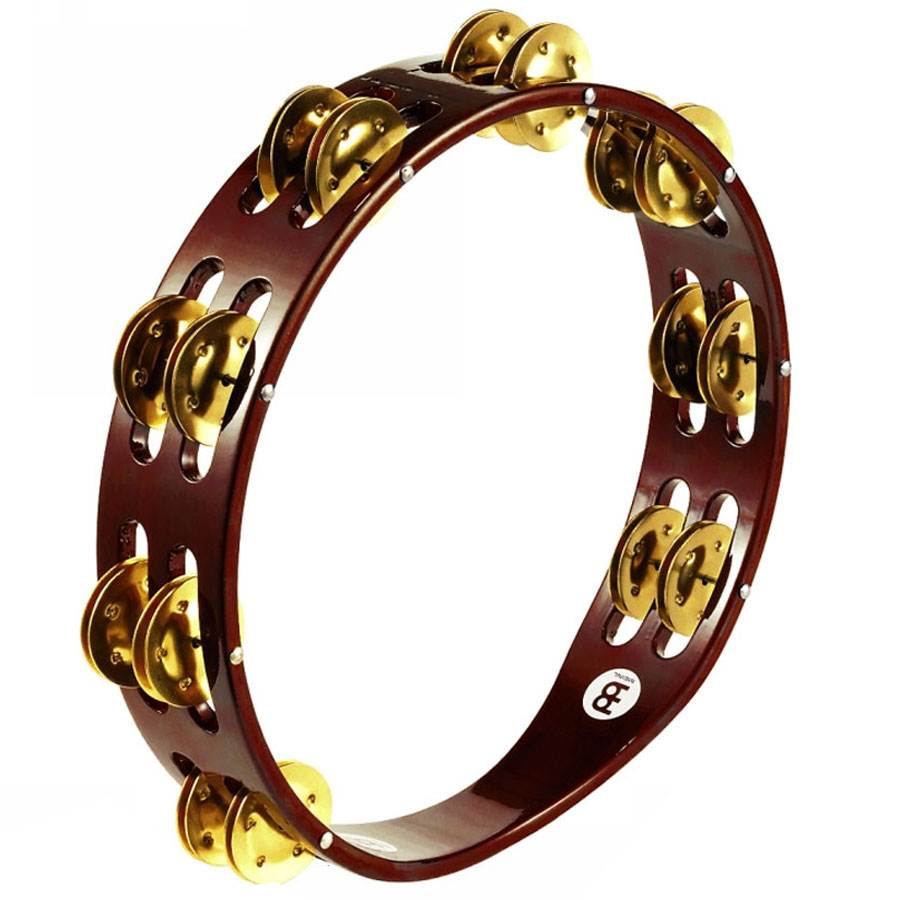 Meinl Wood Double Row Brass Tambourine