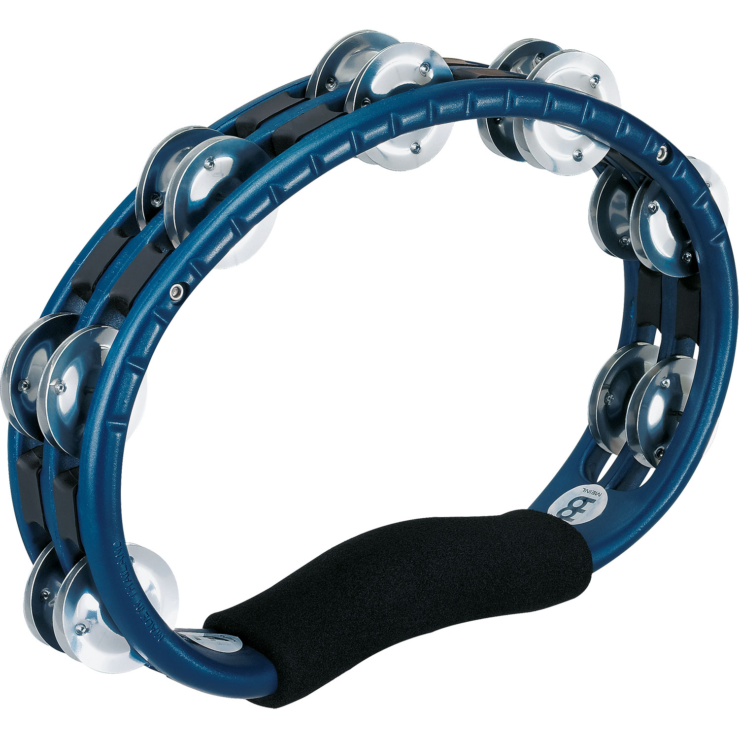 Meinl Hand Held ABS Tambourine in Blue with Aluminum Jingles