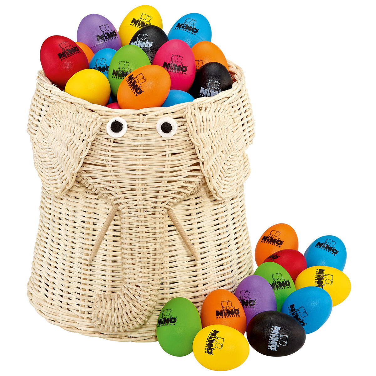 Meinl Nino Eight-Color Egg Shaker Basket (80-Pack)
