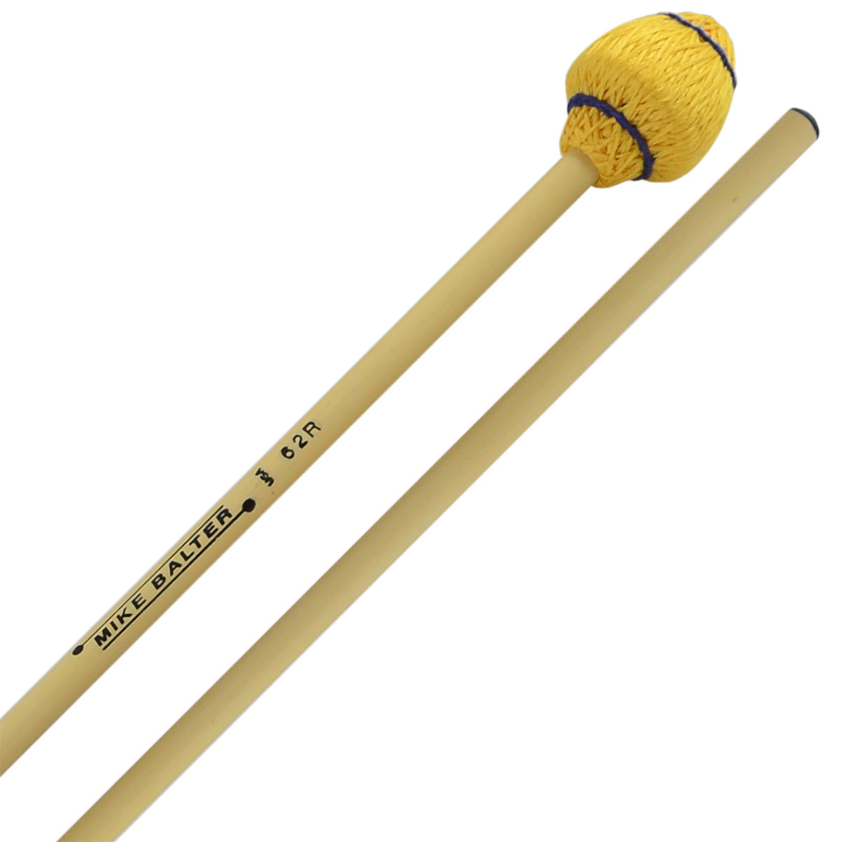 Mike Balter Mushroom Head Medium Hard Vibraphone Mallets with Rattan Handles