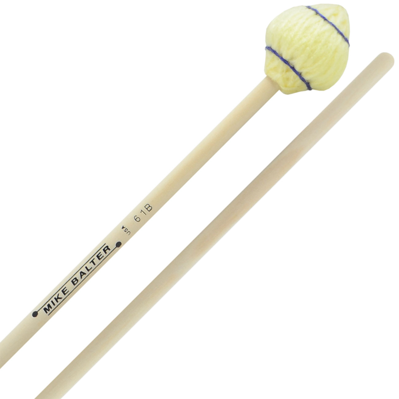 Mike Balter Mushroom Head Medium Hard Marimba Mallets with Birch Handles