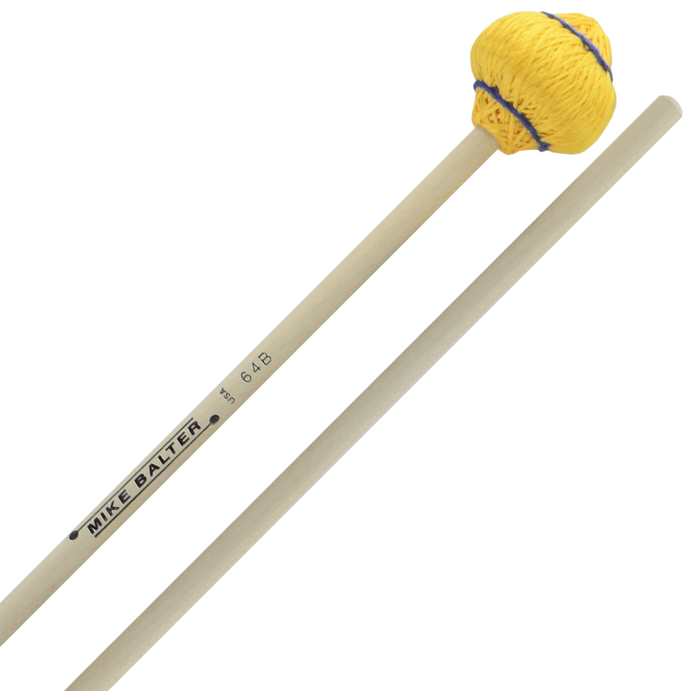 Mike Balter Mushroom Head Medium Soft Vibraphone Mallets with Birch Handles