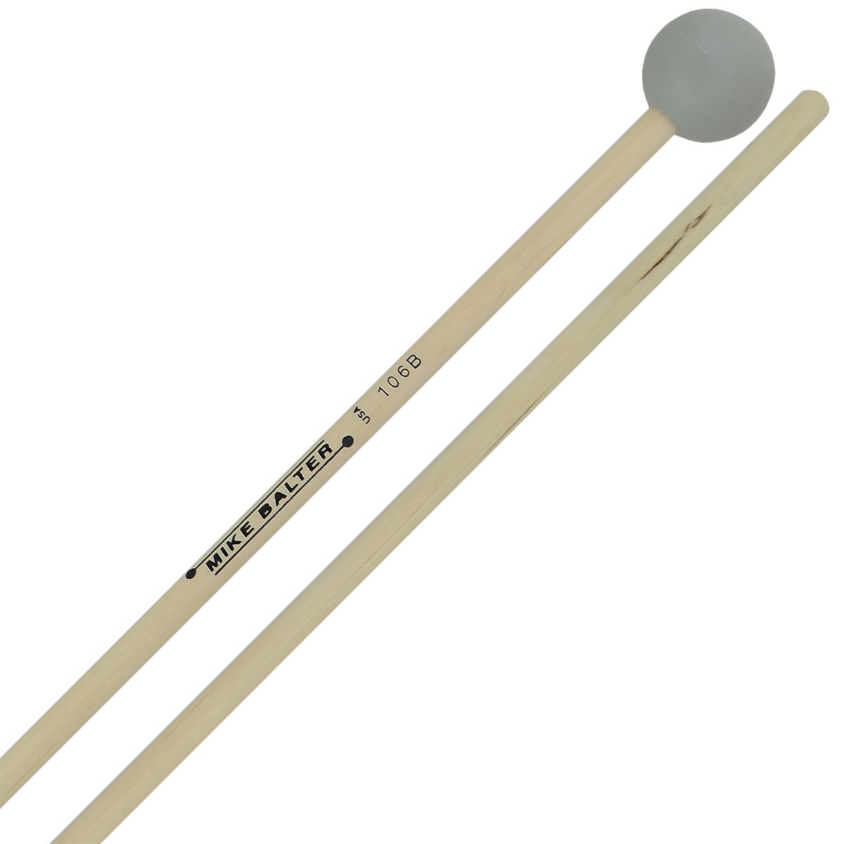 Mike Balter Grandioso Unwound Hard Rubber Xylophone Mallets with Birch Handles