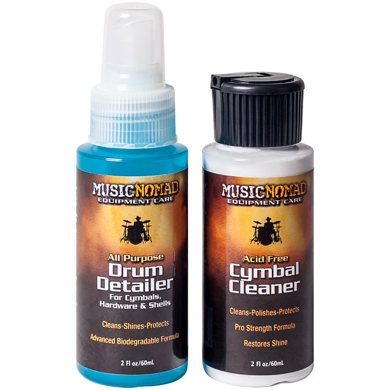 MusicNomad Trial Size Drum Detailer & Cymbal Polish Combo Pack (2oz)