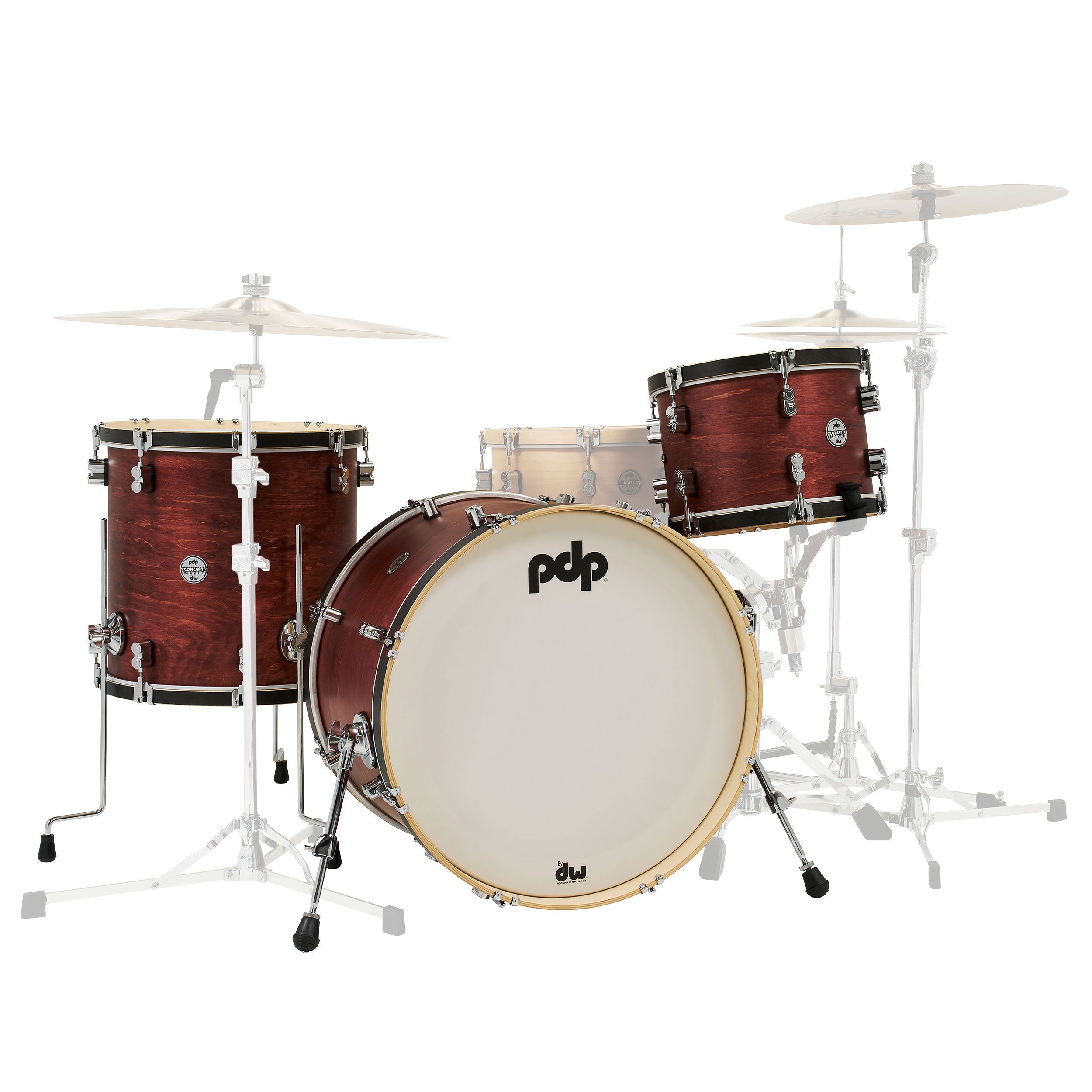 """PDP Concept Maple Classic 3-Piece Drum Set Shell Pack (22"""" Bass, 13/16"""" Toms)"""
