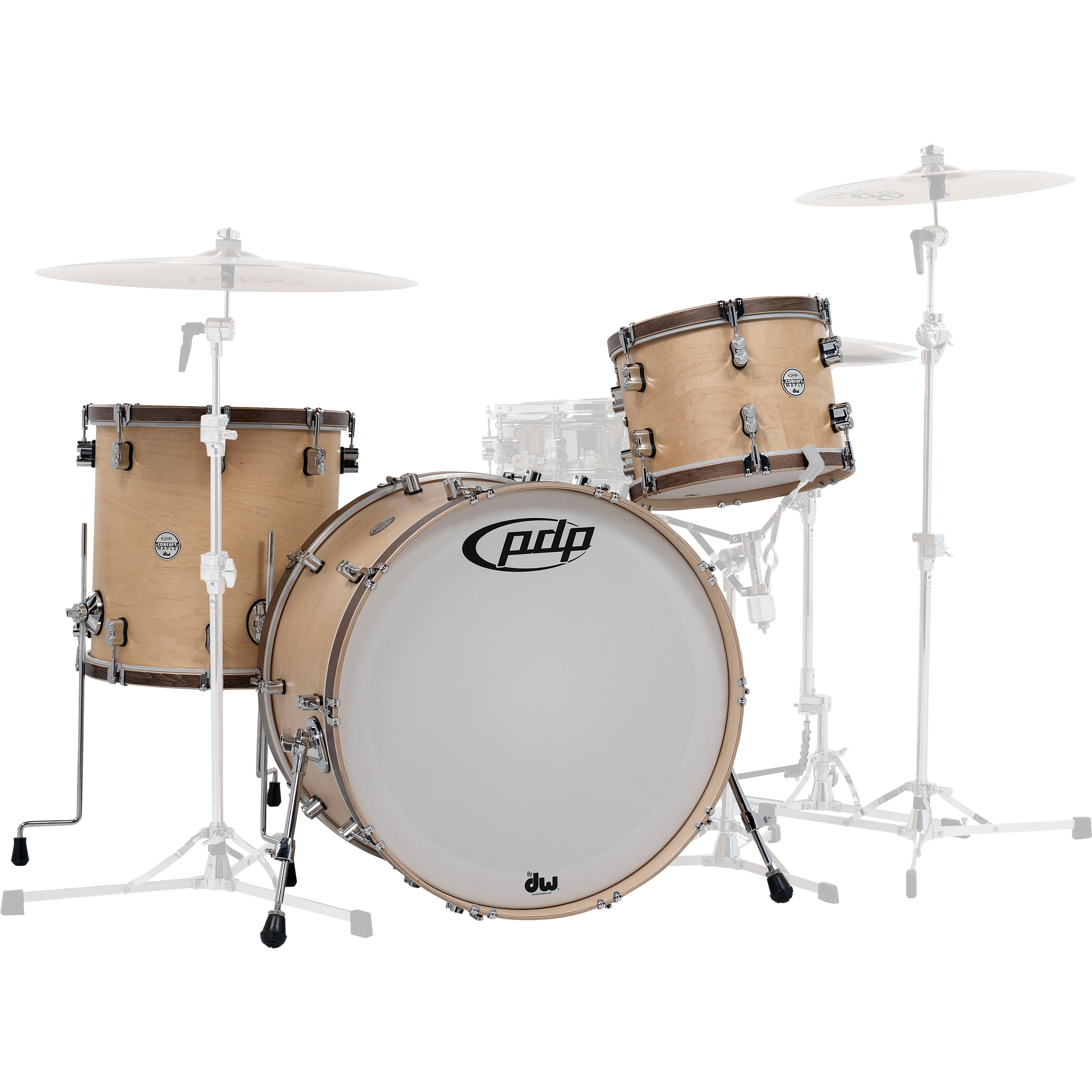 """PDP Concept Maple Classic 3-Piece Drum Set Shell Pack (24"""" Bass, 13/16"""" Toms)"""
