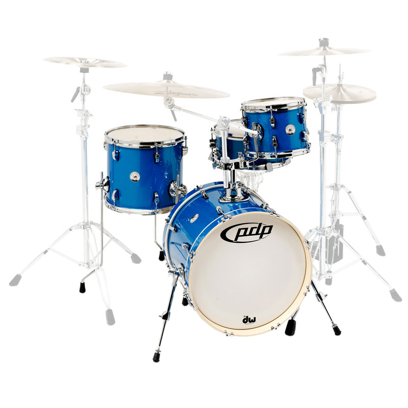 "PDP New Yorker 4-Piece Drum Set Shell Pack (18"" Bass, 10/13"" Toms, 13"" Snare)"