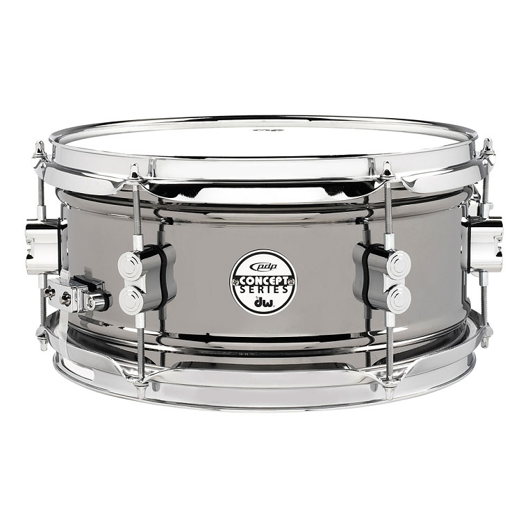 "PDP 6"" x 10"" Concept Black Nickel Over Steel Snare Drum"