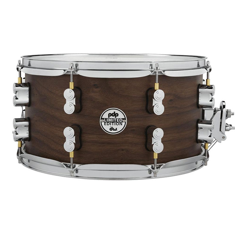 """PDP 7"""" x 13"""" Limited Edition Series 20-Ply Maple/Walnut Snare Drum in Natural Satin"""