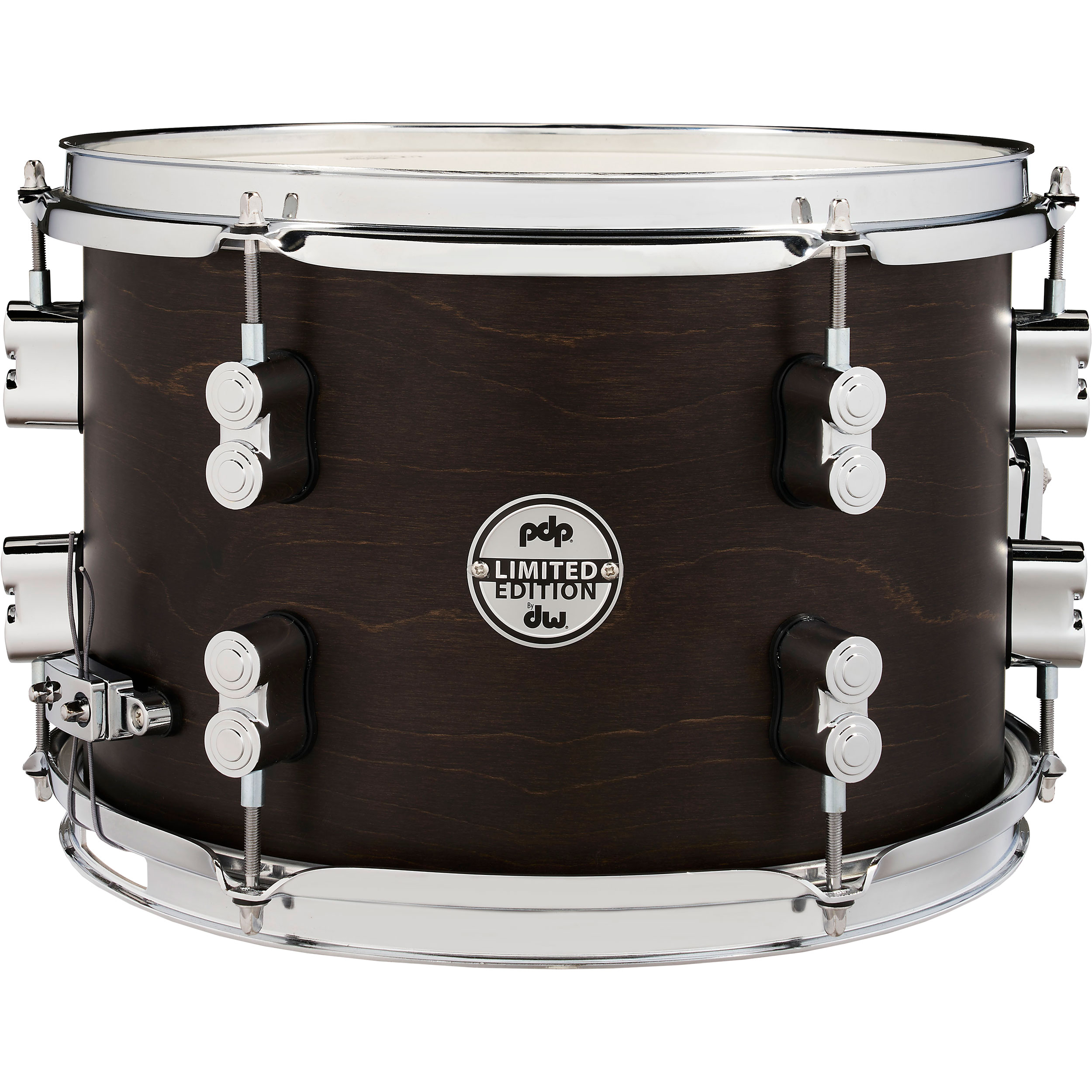 "PDP 8"" x 12"" Limited Edition Series Dry Maple Snare Drum in Dark Walnut"