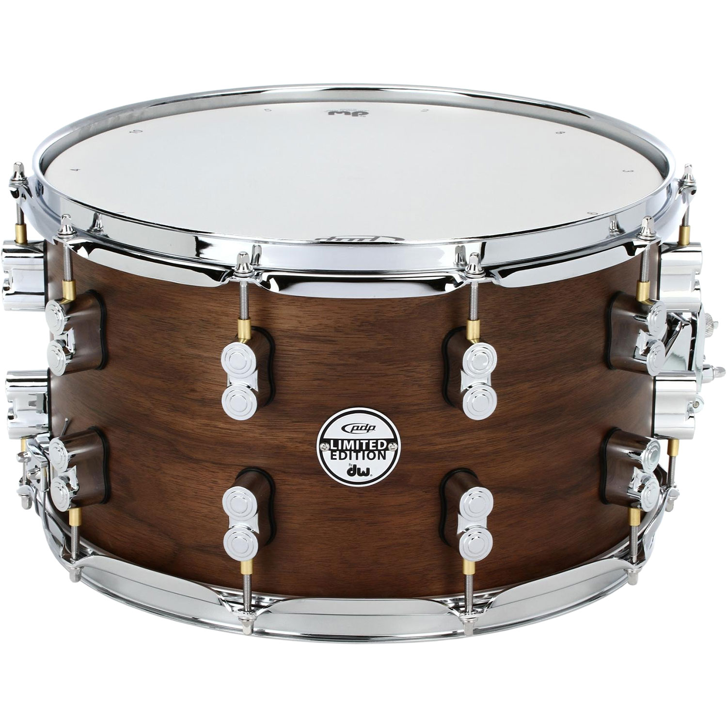 "PDP 8"" x 14"" Limited Edition Series 20-Ply Maple/Walnut Snare Drum in Natural Satin"