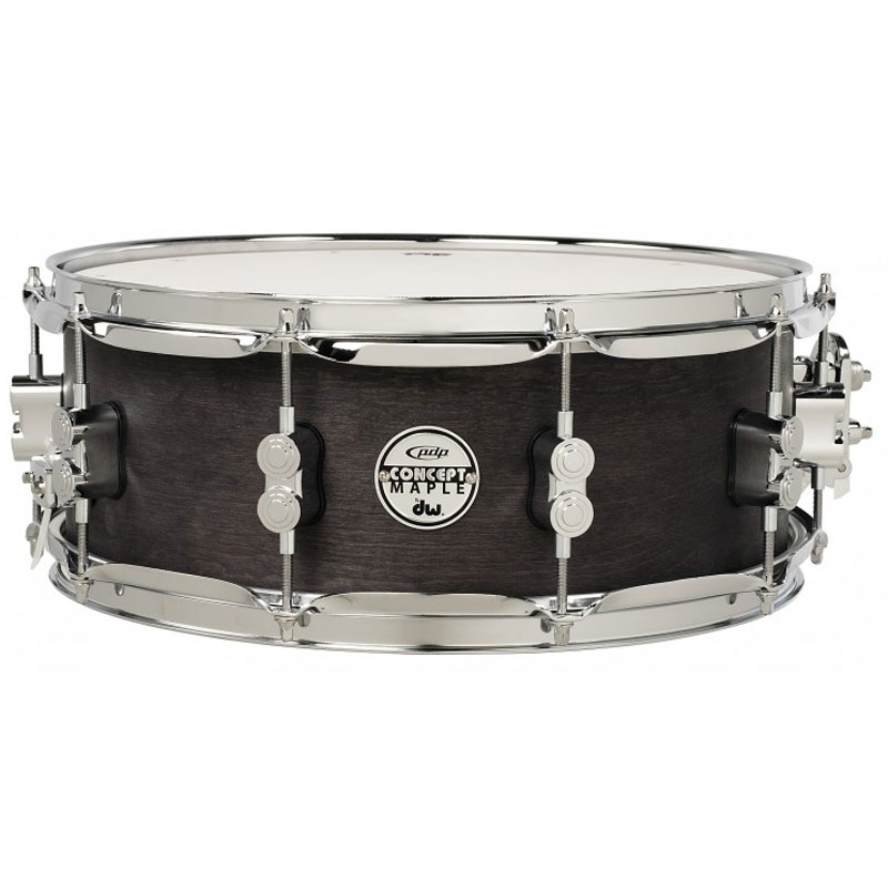 "PDP 5.5"" x 14"" Concept Black Wax Maple Snare Drum"