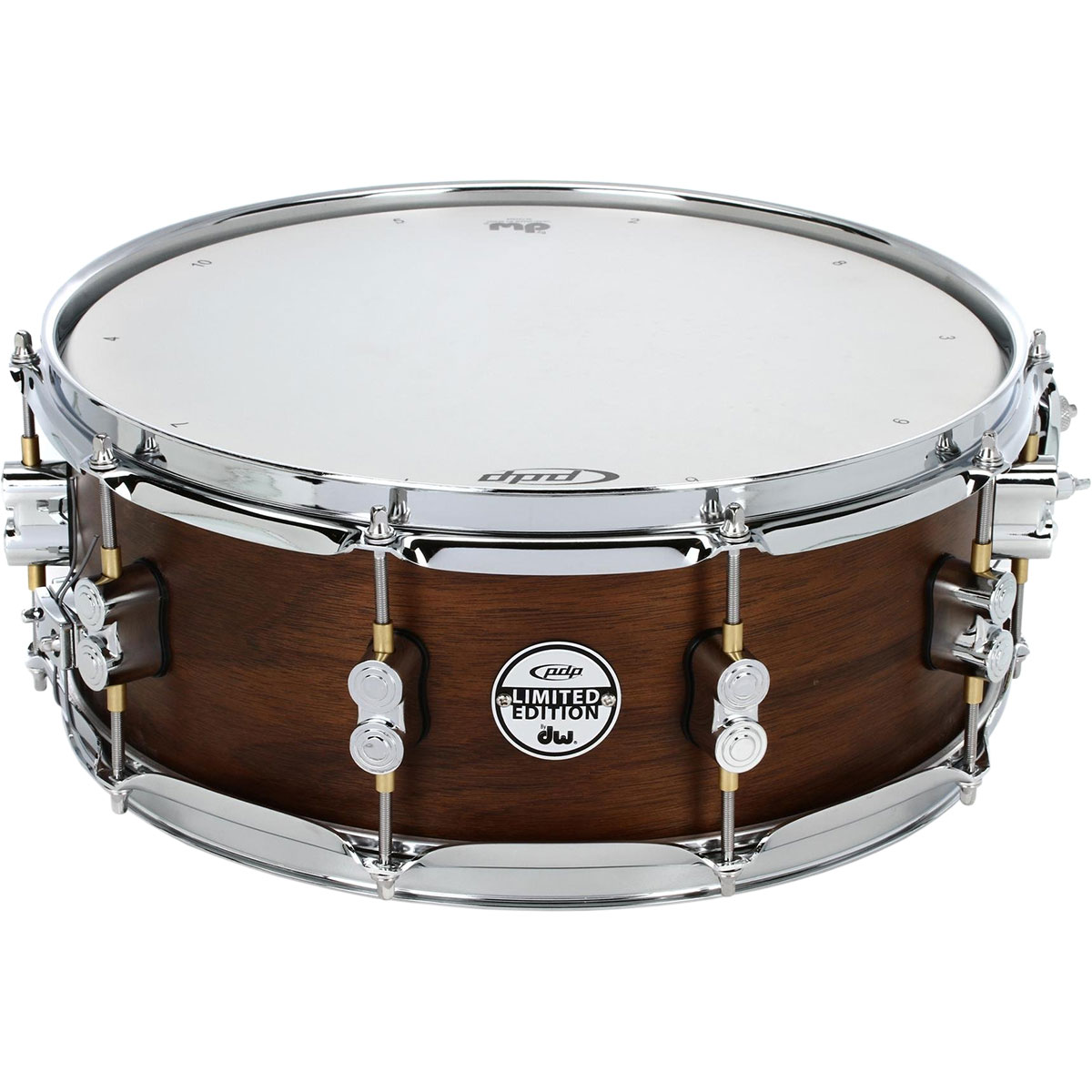 "PDP 5.5"" x 14"" Limited Edition Series 20-Ply Maple/Walnut Snare Drum in Natural Satin"
