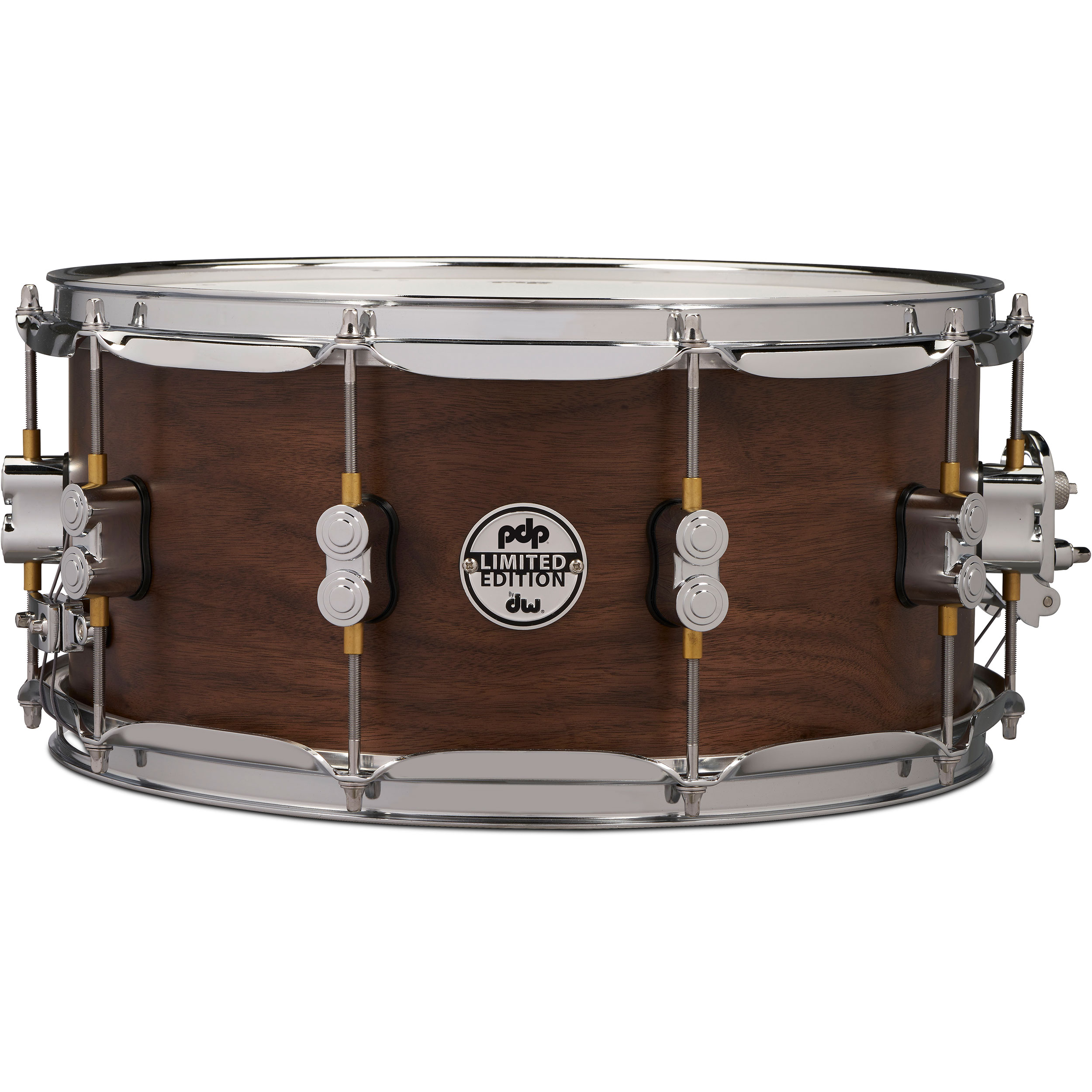 "PDP 6.5"" x 14"" Limited Edition Series 20-Ply Maple/Walnut Snare Drum in Natural Satin"