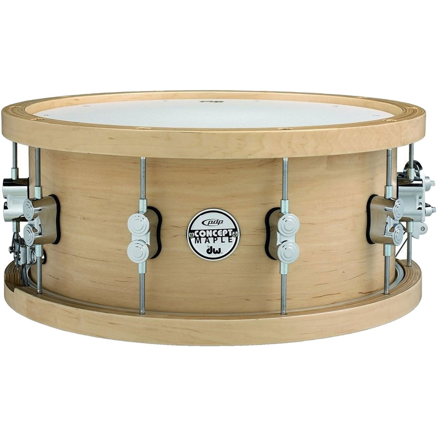 "PDP 6.5"" x 14"" Concept Maple Snare Drum with Wood Hoops"