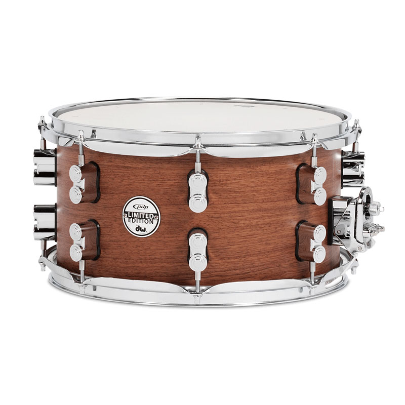 """PDP 7"""" x 13"""" Limited Edition Maple/Bubinga Snare Drum"""