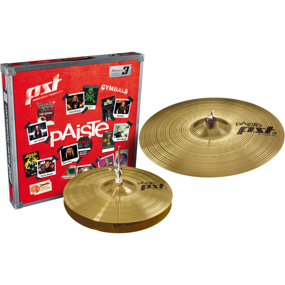 Paiste PST3 Essential Pack 2-Piece Cymbal Box Set (Hi Hats, Crash)
