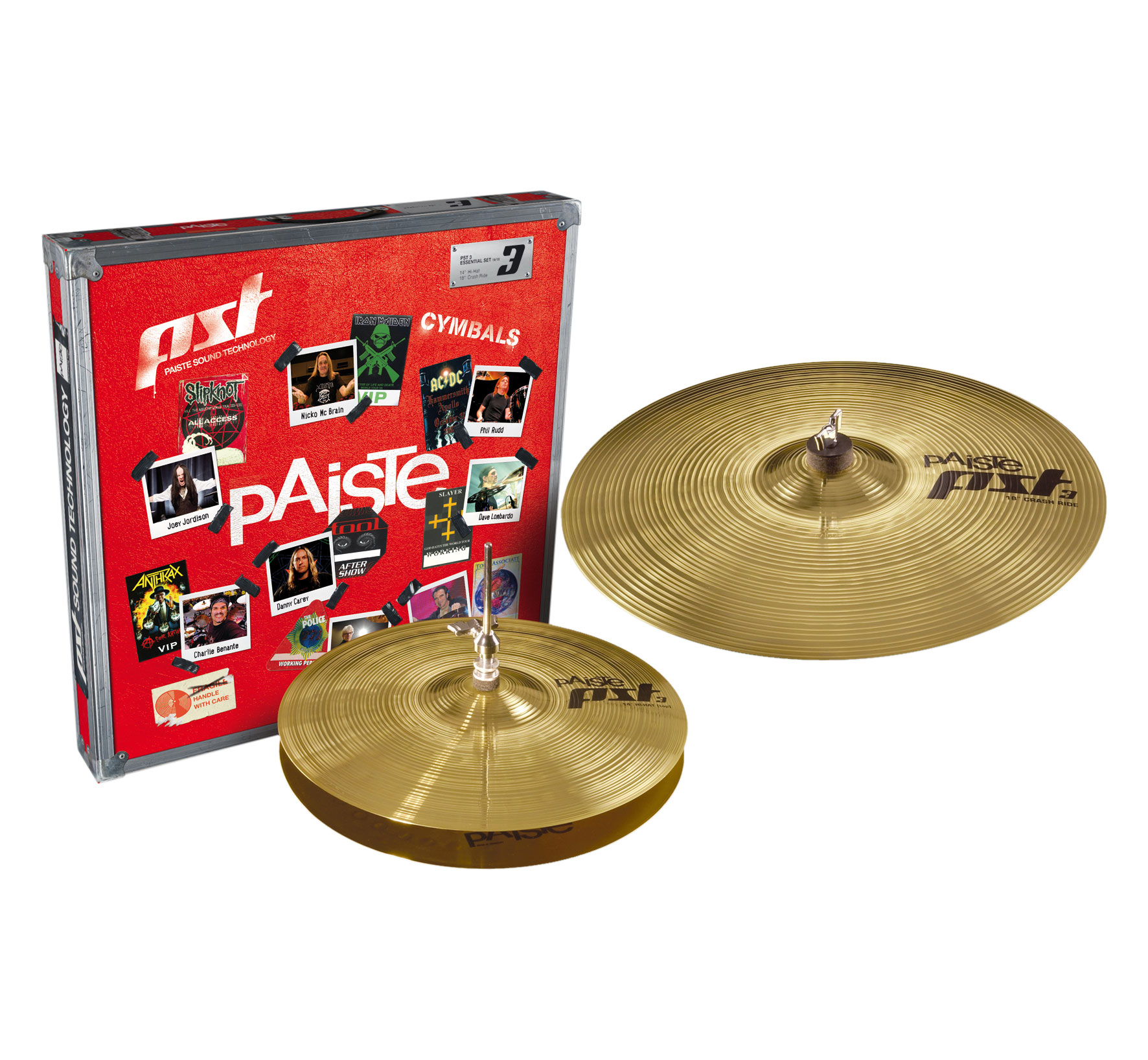 Paiste PST 3 Essential Pack 2-Piece Cymbal Box Set (Hi Hats, Crash/Ride)