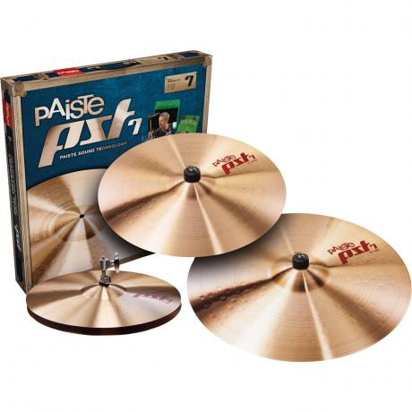 Paiste PST 7 Universal 3-Piece Cymbal Box Set (Hi Hats, Crash, Ride)