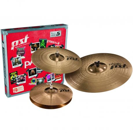 Paiste PST 5 Rock 3-Piece Cymbal Box Set (Hi Hats, Crash, Ride)