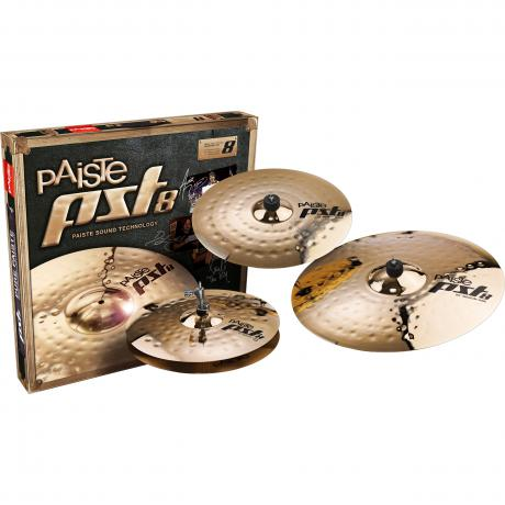 Paiste PST 8 Reflector Universal Pack 3-Piece Cymbal Box Set (Hi Hats, Crash, Ride)