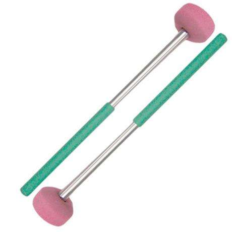 Panyard Rainbow Series Steel Drum General Tenor Bass Steel Drum Mallets - Green
