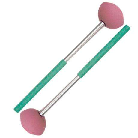 Panyard Rainbow Series Steel Drum General Bass Steel Drum Mallets - Green