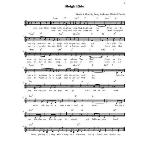 Sleigh Ride by Leroy &erson arr. Marc Svaline