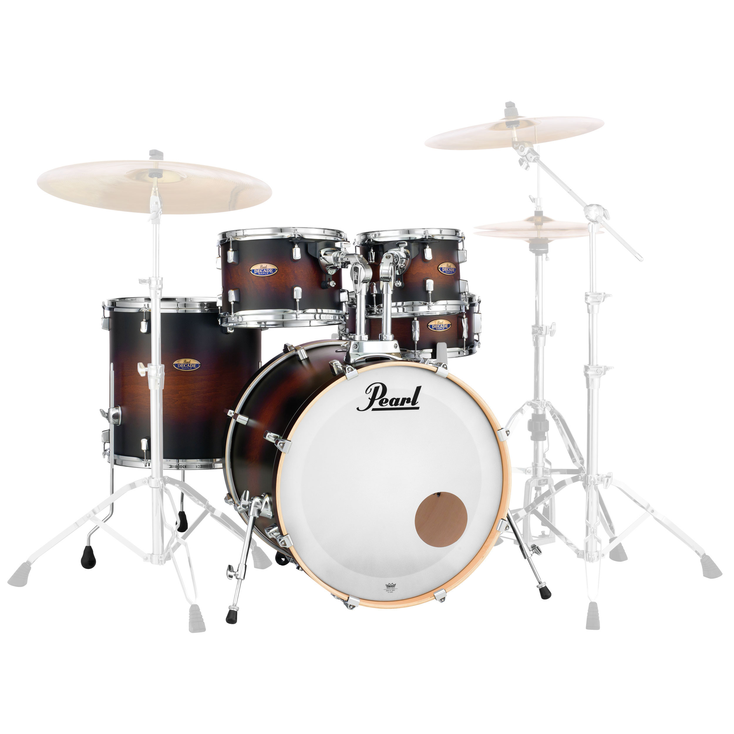 "Pearl Decade Maple 5-Piece Drum Set Shell Pack (20"" Bass, 10/12/14"" Toms, 14"" Snare) in Lacquer Finish"