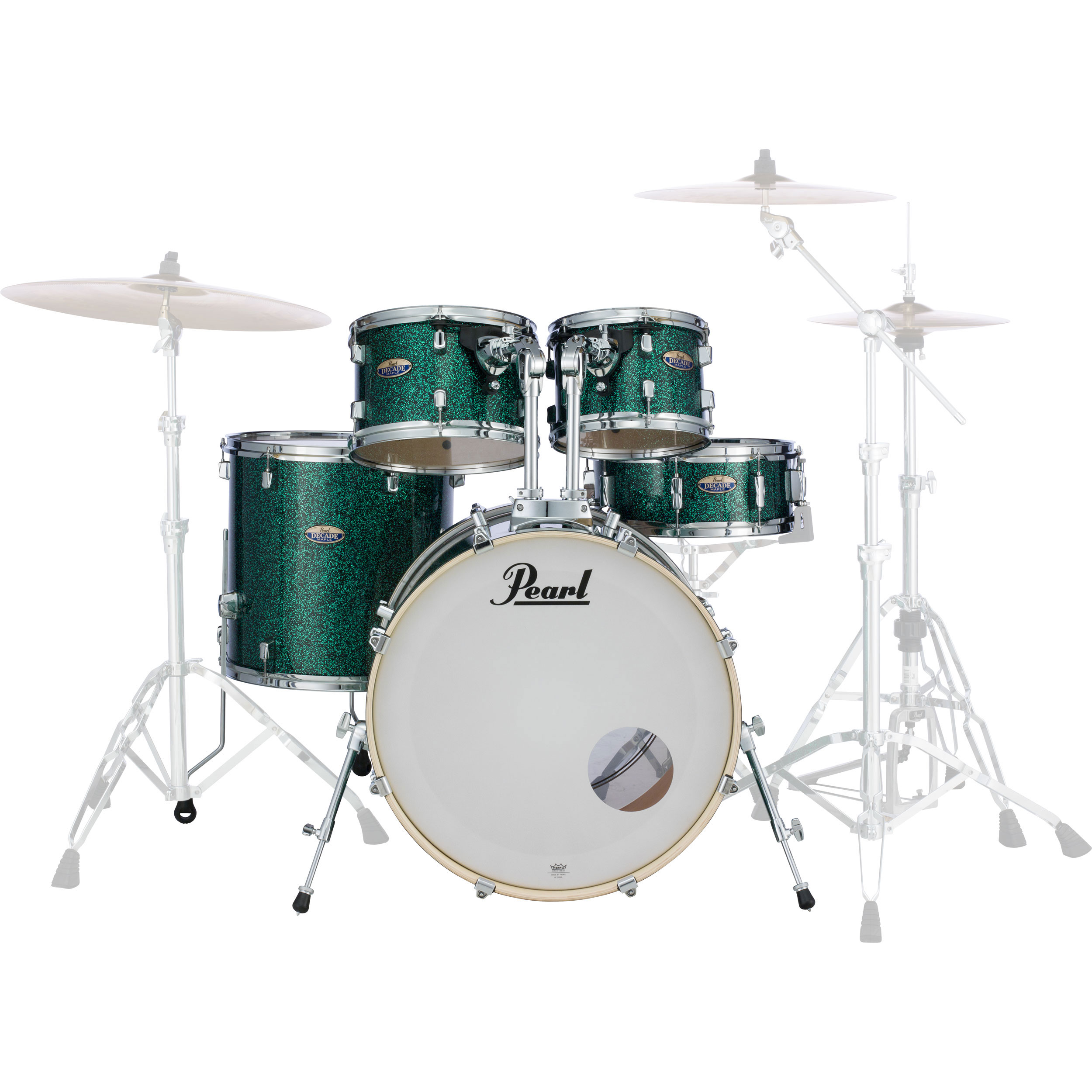 pearl decade maple 5 piece drum set shell pack 22 bass 10 12 16 toms 14 snare in wrap finish. Black Bedroom Furniture Sets. Home Design Ideas