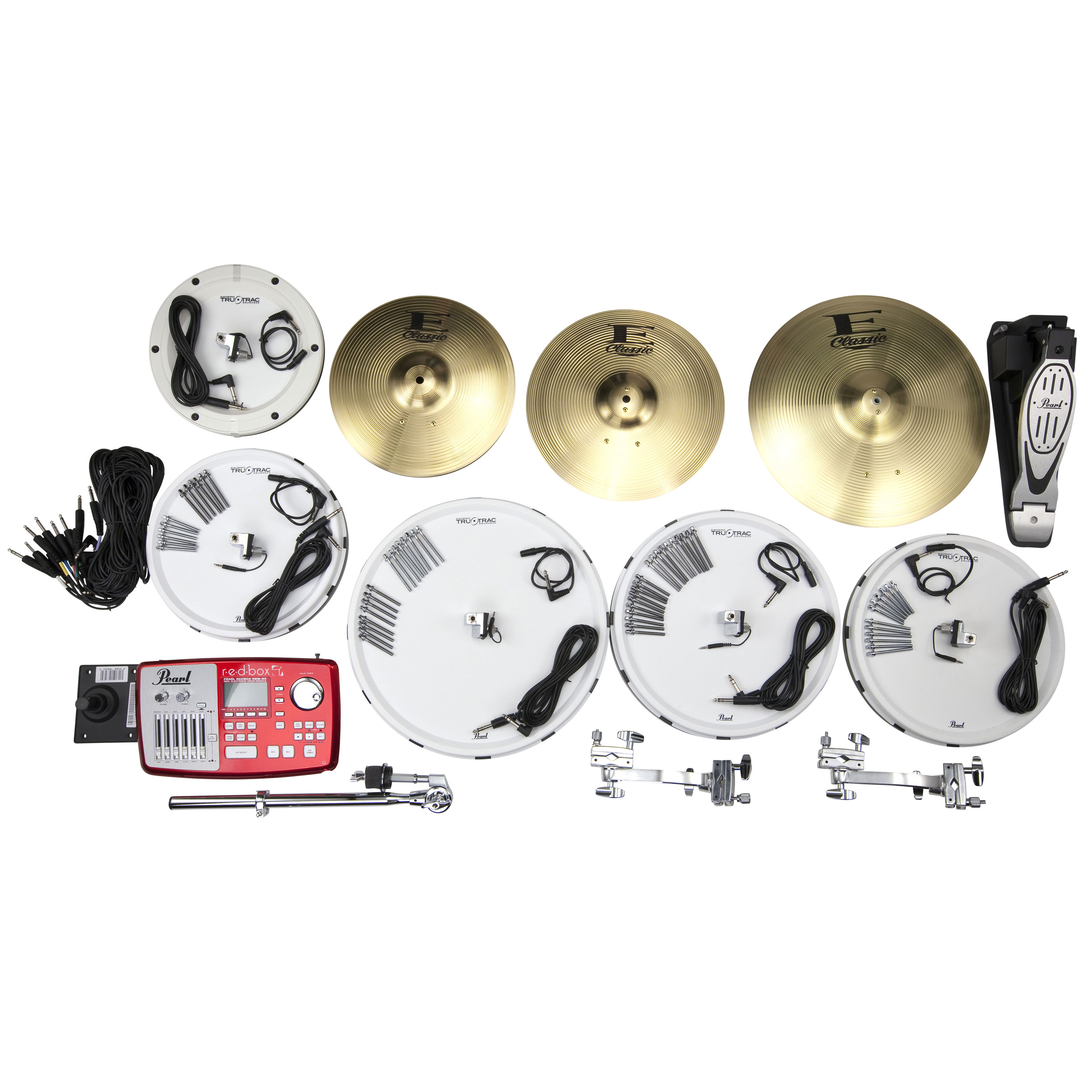 "Pearl EPAD-25 Electronic Drum Set with 12-13-14-16"" Tru-Trac Heads, Bass Pad, Module & Metal Cymbals"