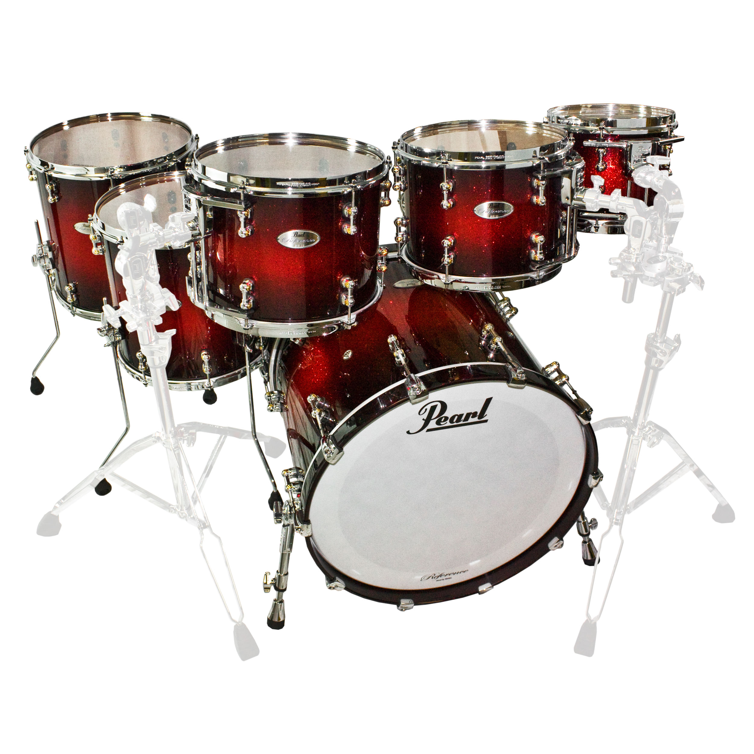 Pearl Reference Pure 7-Piece Drum Set Shell Pack (22B-10 ...