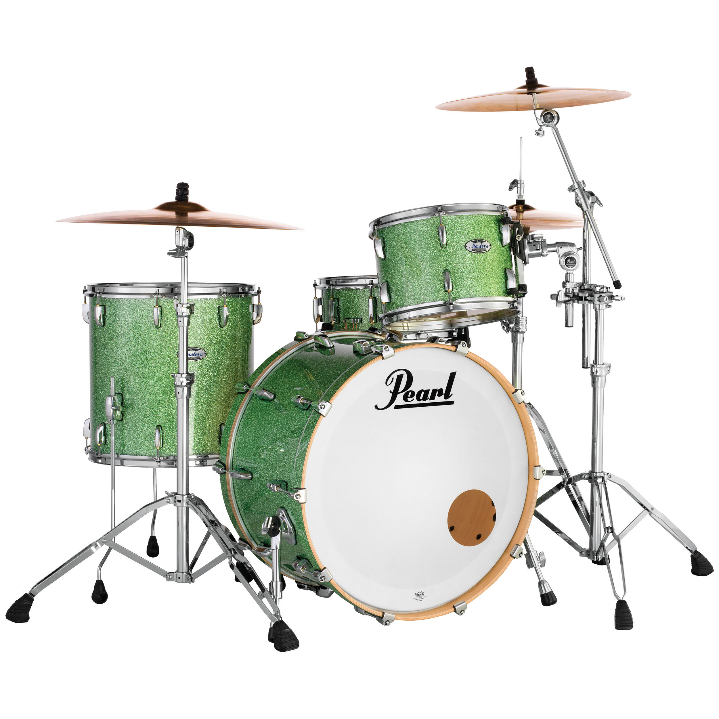 "Pearl Masters Maple Complete 3-Piece Drum Set Shell Pack (22"" Bass, 12/16"" Toms)"