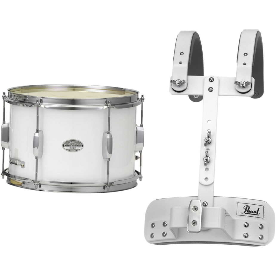 "Pearl 12"" (Diameter) x 8"" (Deep) Junior Marching Snare Drum with Carrier"