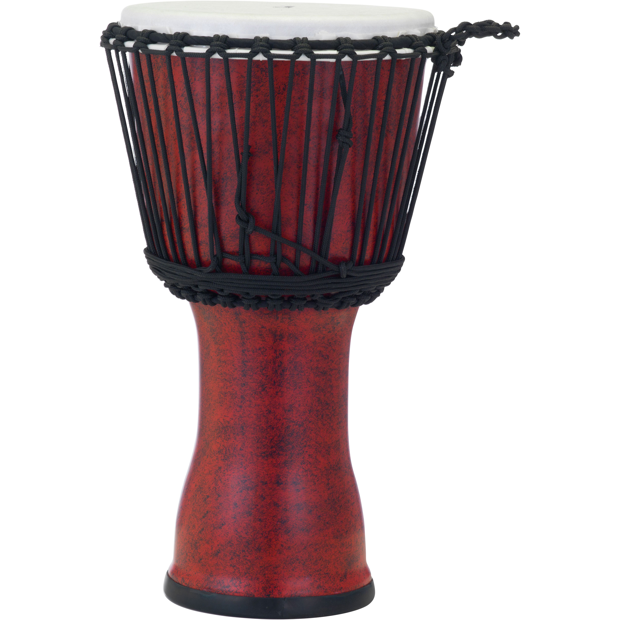 "Pearl 10"" Rope Tuned Djembe in Molten Scarlet"