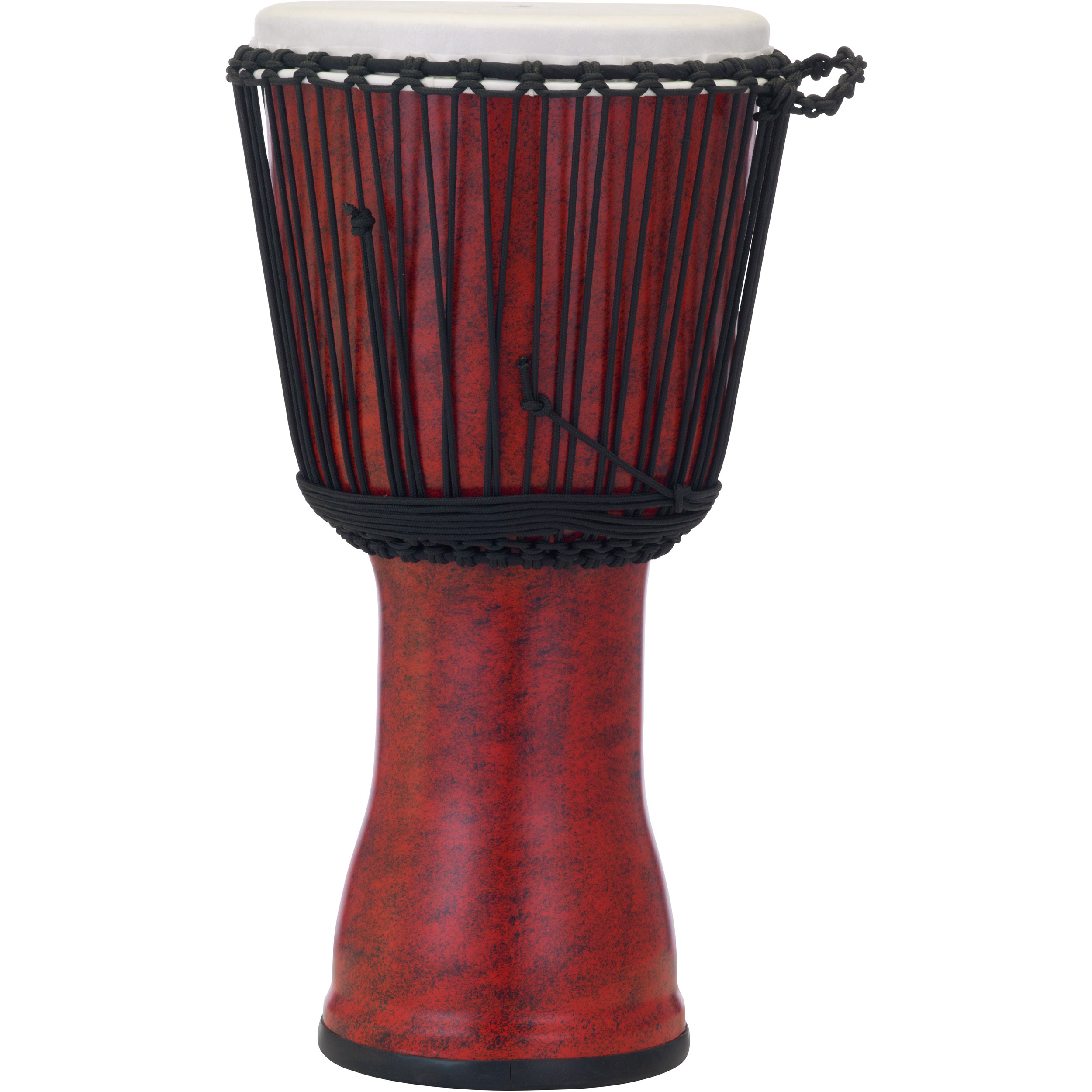 "Pearl 12"" Rope Tuned Djembe in Molten Scarlet"
