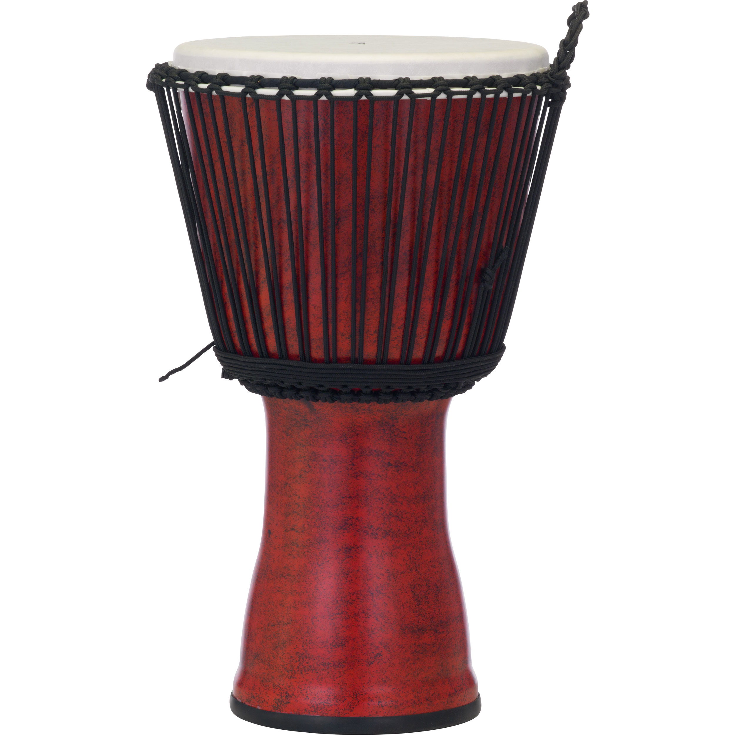 "Pearl 14"" Rope Tuned Djembe in Molten Scarlet"