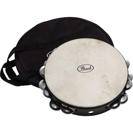 Pearl Elite Double-Row Steel Tambourine (Natural Head)