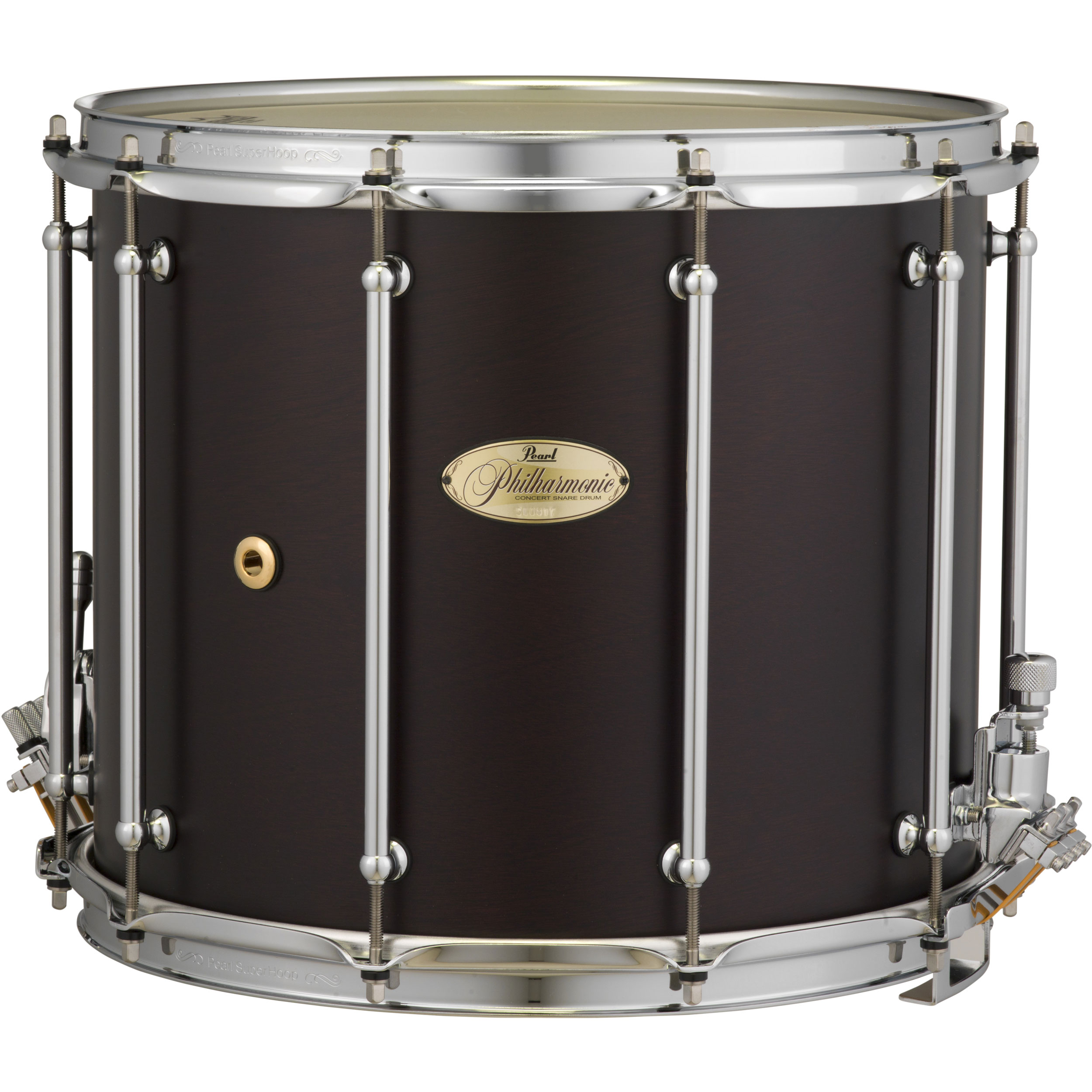 "Pearl 14"" (Diameter) x 12"" (Deep) Philharmonic 4-Ply African Mahogany Concert Field Drum in Matte Walnut"