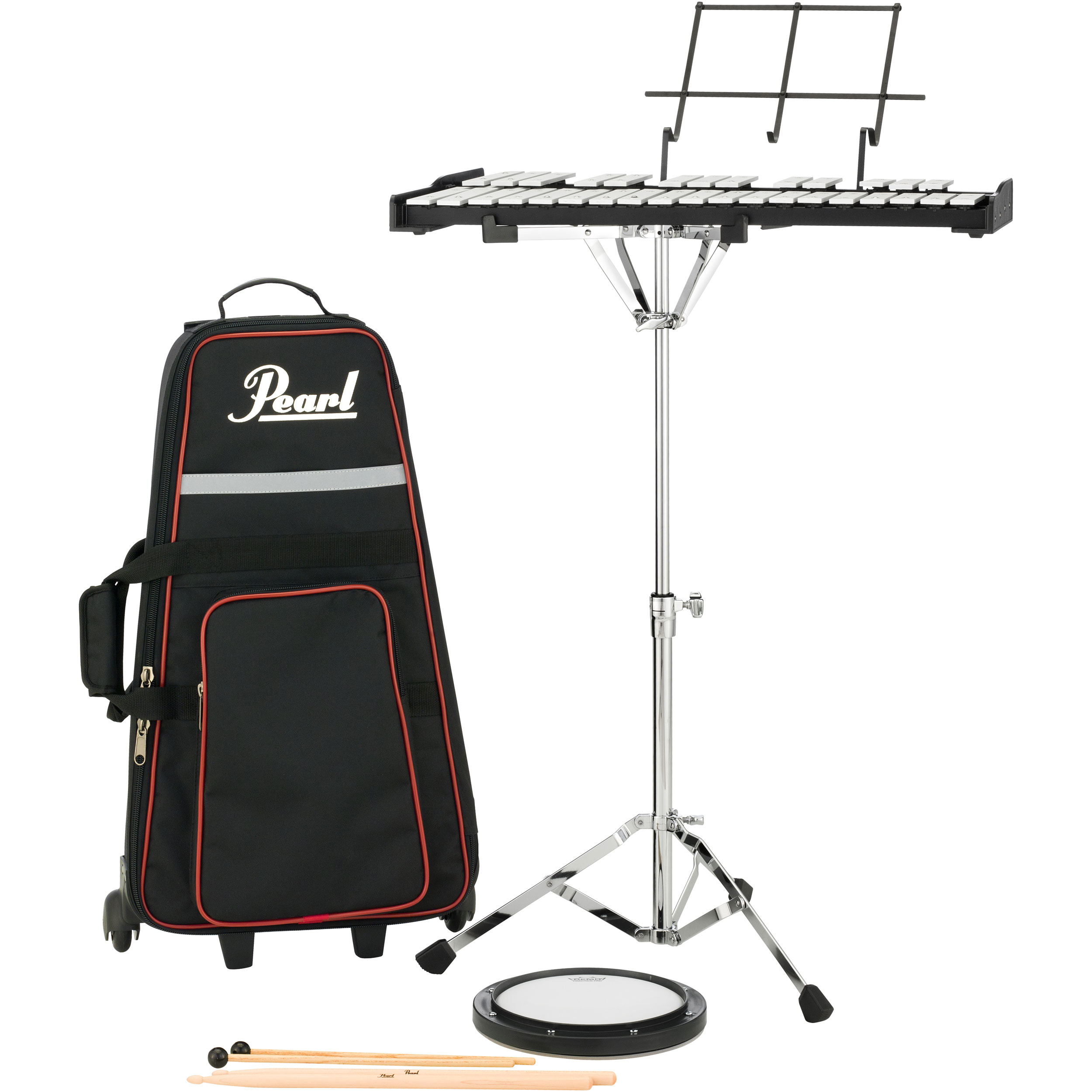 Pearl Student Percussion Bell Kit with Rolling Bag