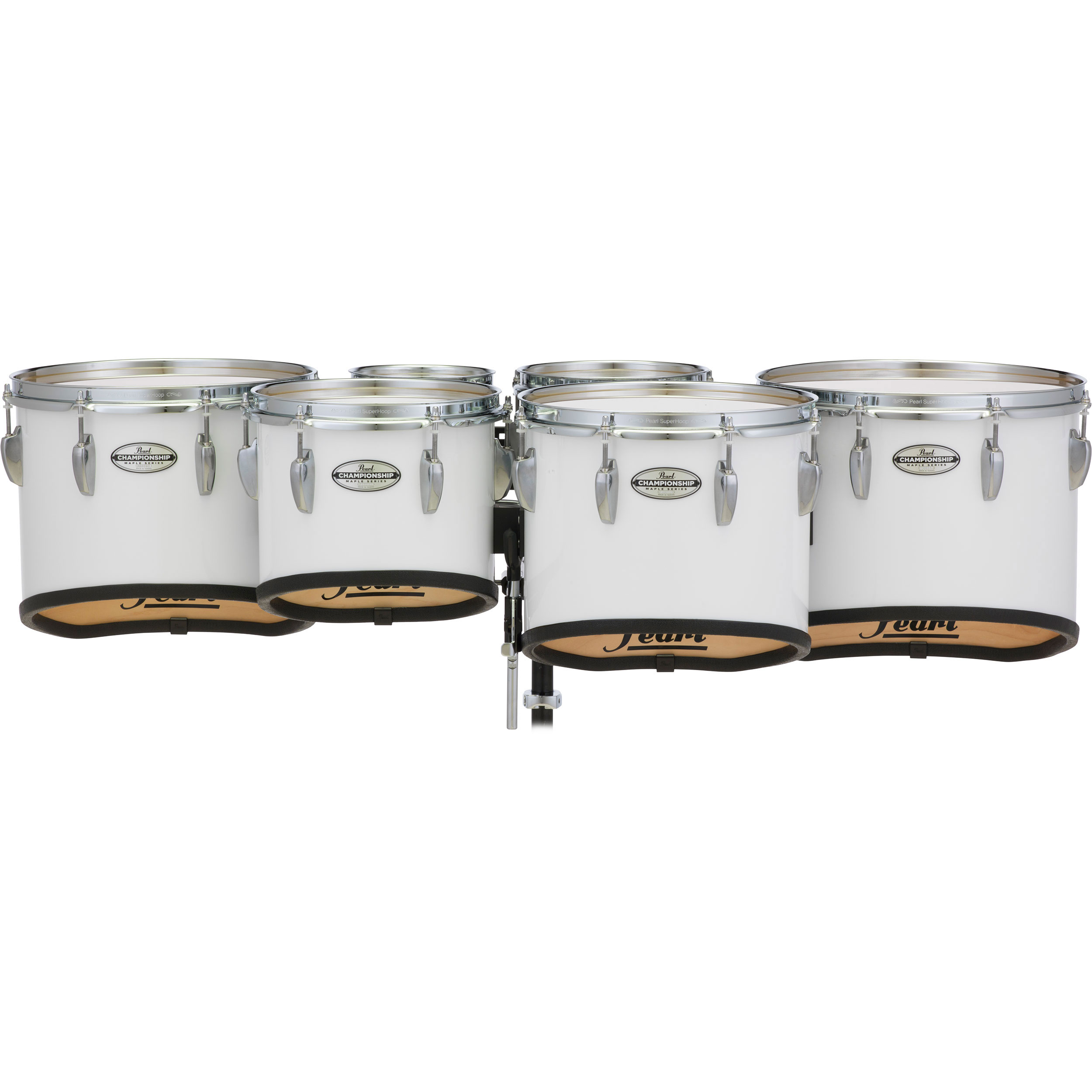 "Pearl 6-6-8-10-12-13"" PMTMS Championship Maple Shallow-Cut Marching Tenors in Wrap Finish"