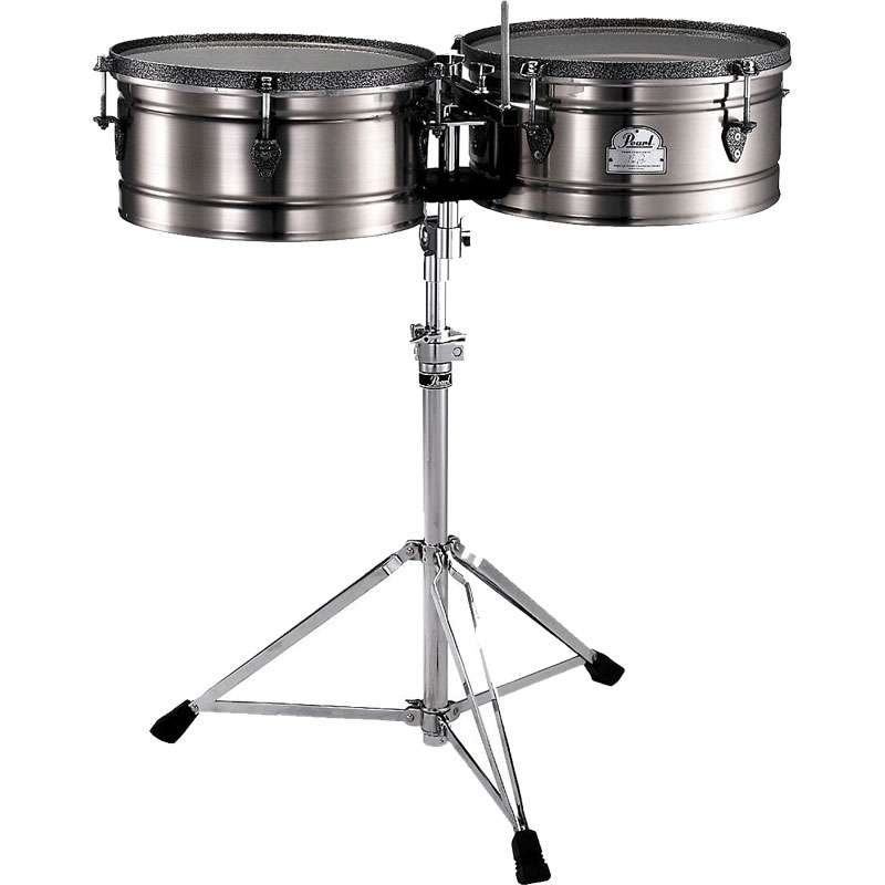 "Pearl 14"" & 15"" Marc Quinones Signature Primero Timbales with Stand (Demo)"