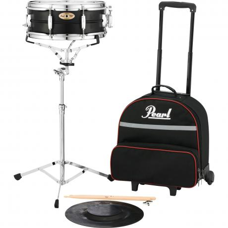Pearl student snare kit with rolling bag sk910c for Yamaha student bell kit with backpack and rolling cart